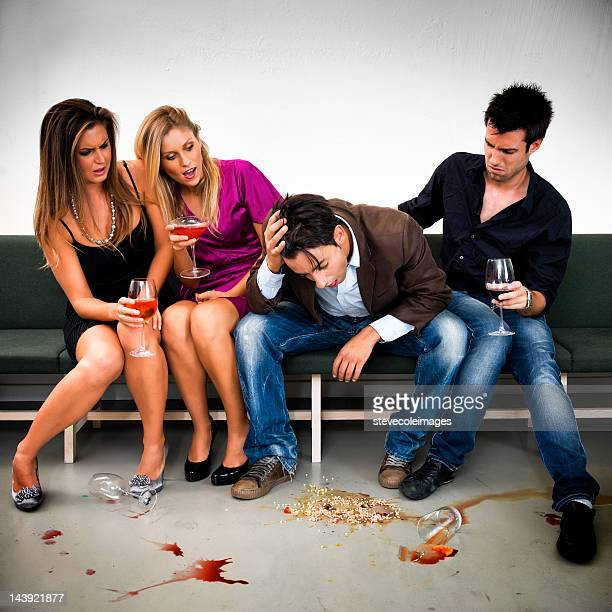 drunk sick - vomiting stock photos and pictures