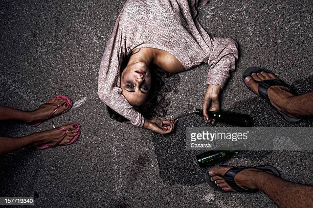 drunk young woman - binge drinking stock photos and pictures
