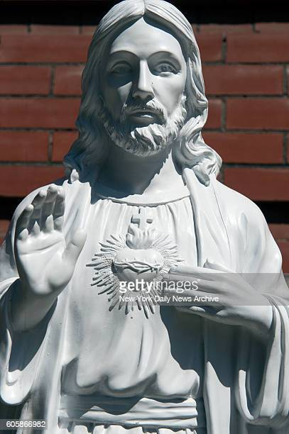A drunken vandal highfived then kissed a statue of Jesus outside Saints Peter and Paul on Tuesday September 13 2016 This is the third time Jesus has...