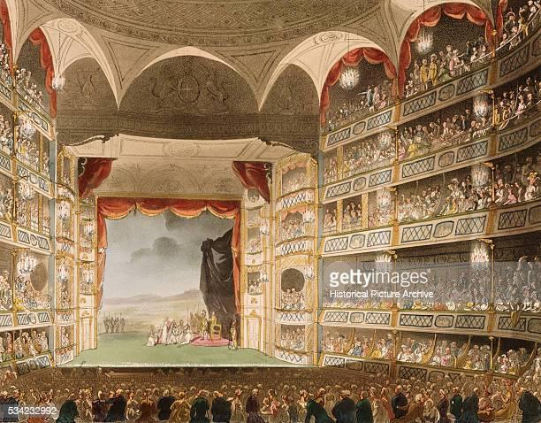 Drury Lane Theater by Thomas Rowlandson and Augustus Charles Pugin