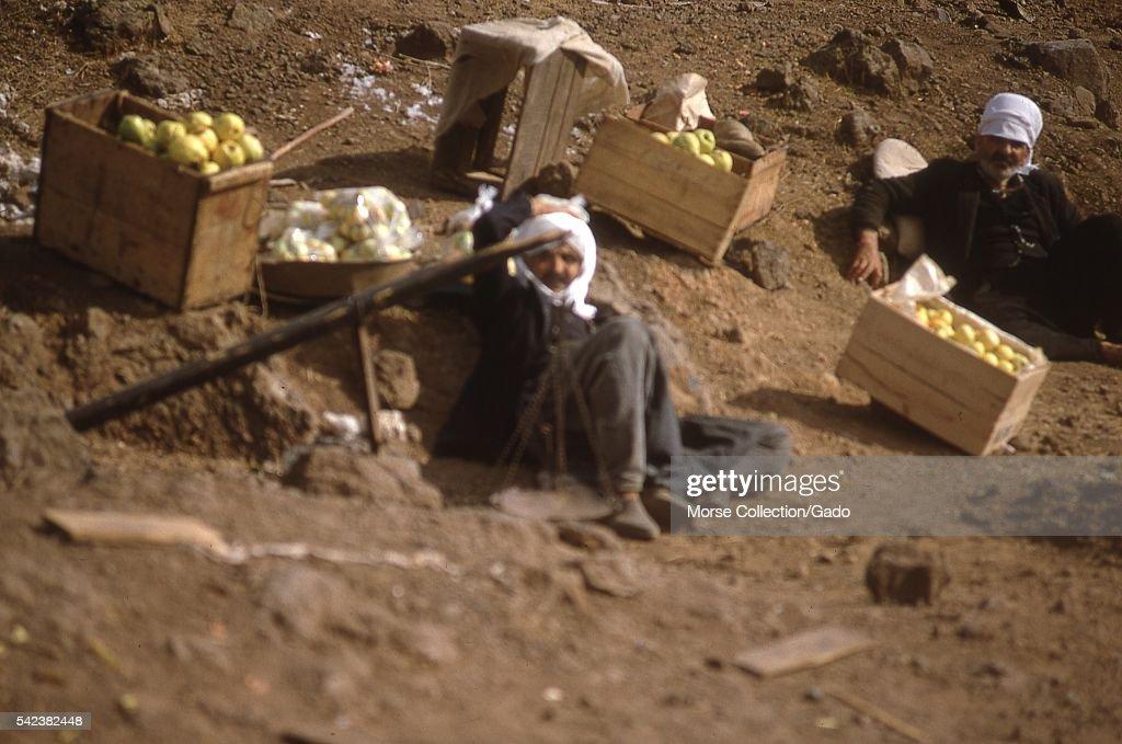 Golan Apple Sellers : News Photo
