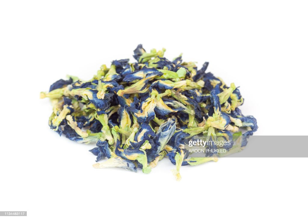 Dry butterfly pea : Stock Photo