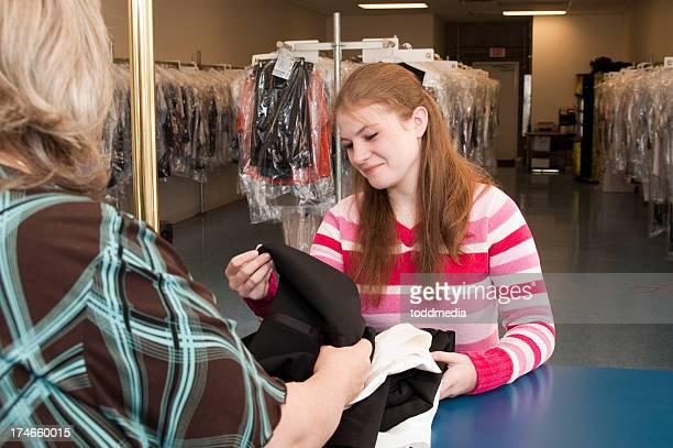 Pressing les vêtements