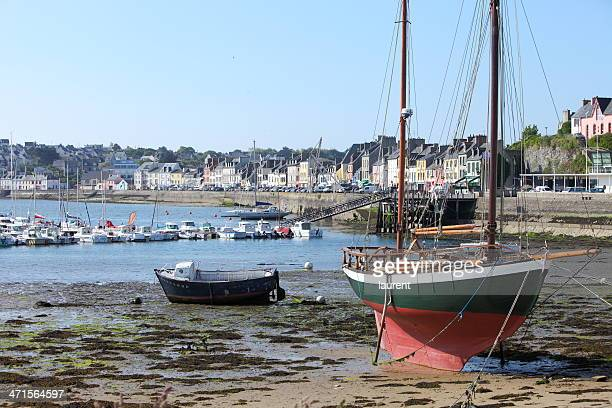 dry dock in camaret-sur-mer, brittany, france - finistere stock photos and pictures