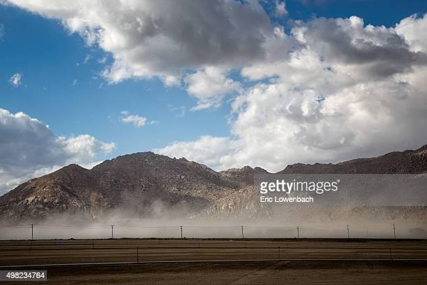 Dry dusty desert farm