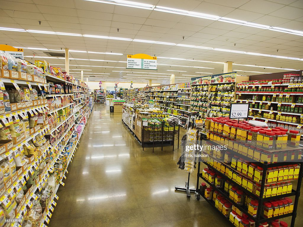 Dry Goods Section Of Grocery Store High-Res Stock Photo ...