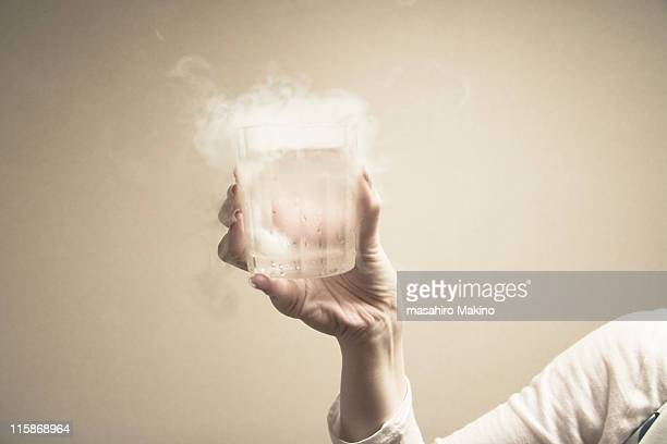 dry ice in water - dry ice stock pictures, royalty-free photos & images