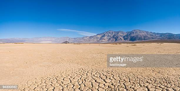 Dry lake bed in desert