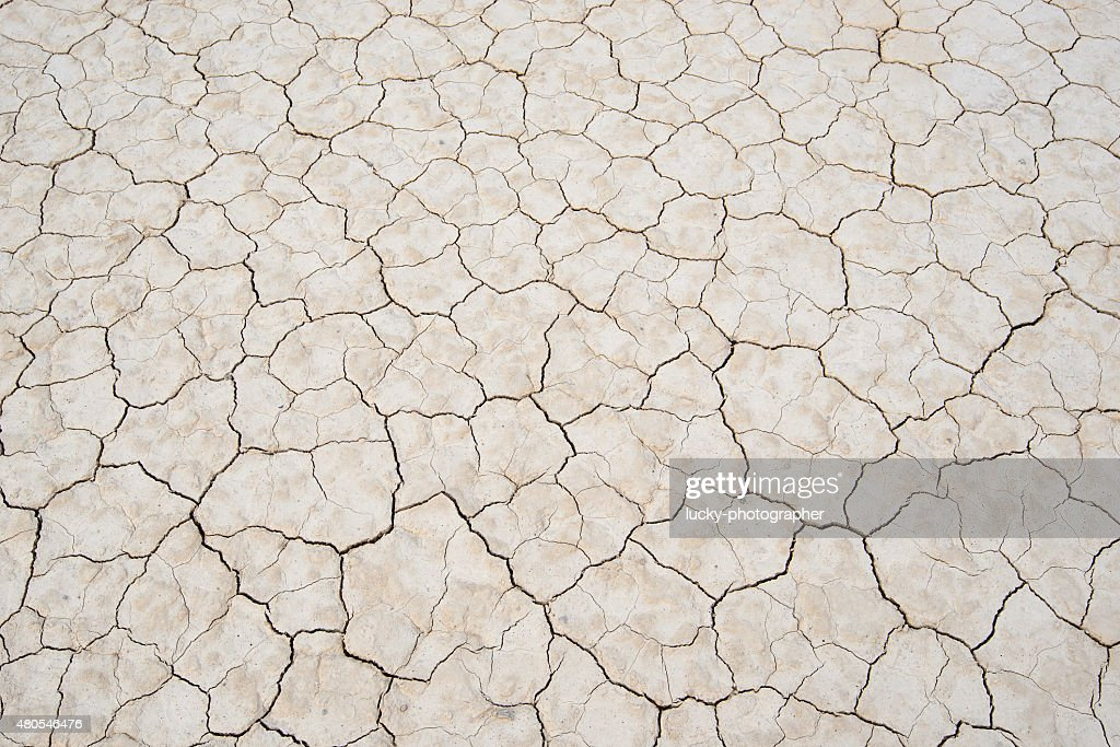 Dry land. Cracked ground background. Racetrack Playa, Death Valley : Stock Photo