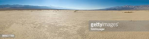 Dry landscape hot cloudless skies