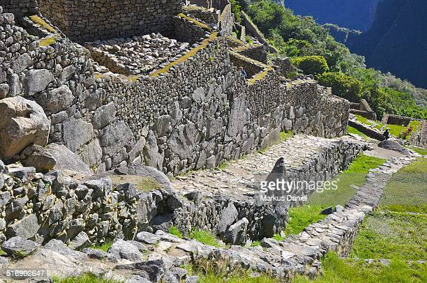 Dry Moat and Main Wall of Machu Picchu