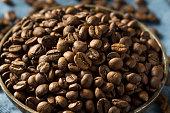 dry organic espresso coffee beans bowl