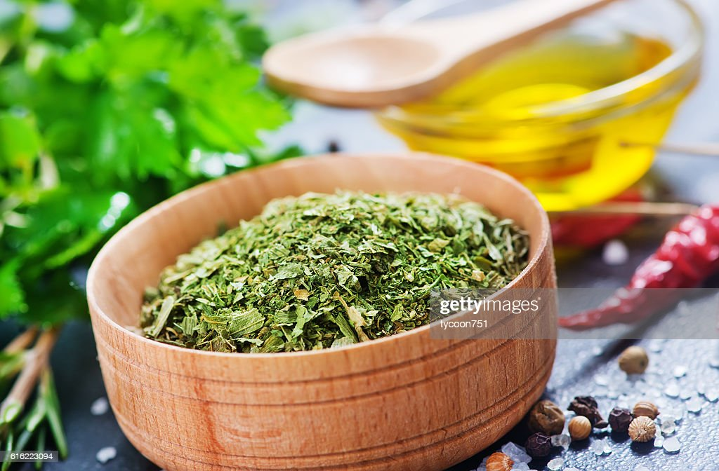 dry parsley : Bildbanksbilder