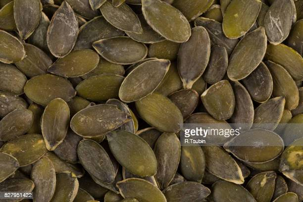 dry pumpkin seeds close up