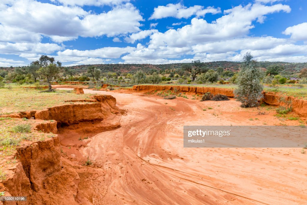 dry river bed : Stock Photo