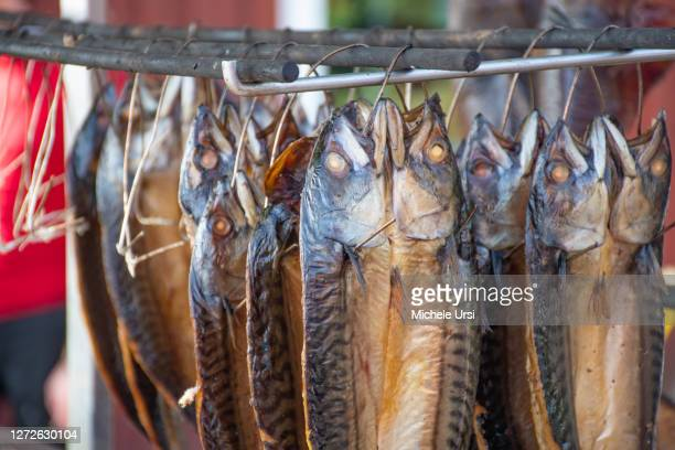 dry smoked spiced mackerel fish fish