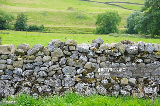 Dry Steinmauer in Yorkshire Dales-Nationalpark