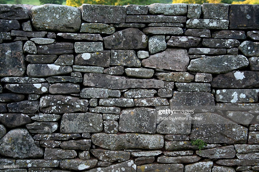 Dry stone wall : Stock Photo