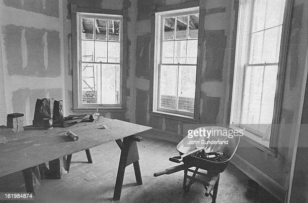 DEC 26 1979 Dry wall has been installed in rooms where the original lathe and plaster was destroyed by fire Charred upright piano marks room where...