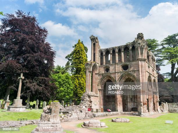 Dryburgh Abbey in the scottish Borders iin the valley of the river tweed A romantic and peaceful ruin of a monastery of the Premonstratensian Sir...