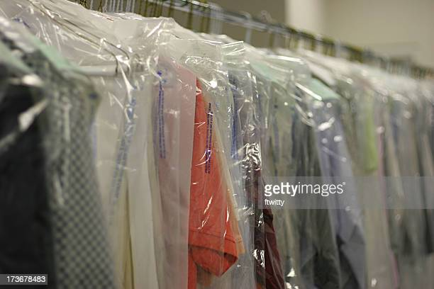 drycleaned clothing - dry cleaner stock pictures, royalty-free photos & images