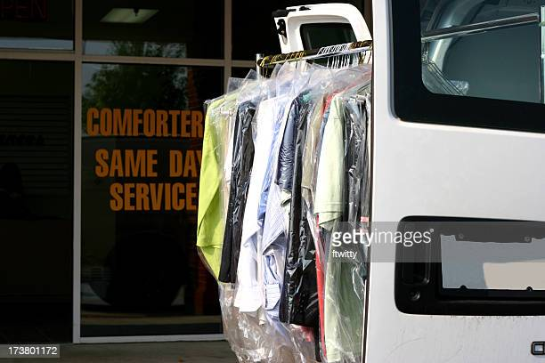 drycleaned delivery - dry cleaner stock pictures, royalty-free photos & images