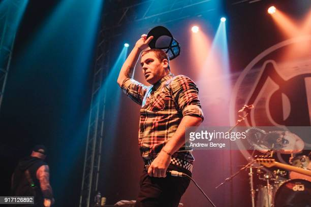 Dryden Mitchell of Alien Ant Farm performs at O2 Academy Leeds on February 11 2018 in Leeds England