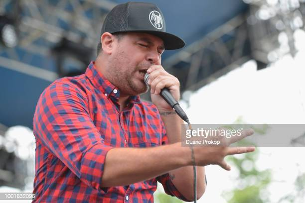 Dryden Mitchell of Alien Ant Farm performs during Inkcarceration Music Tattoo Festival at Ohio State Reformatory on July 14 2018 in Mansfield Ohio