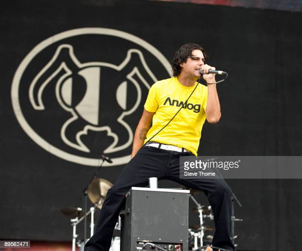 Dryden Mitchell of Alien Ant Farm performs on stage on the first day of Sonisphere at Knebworth House on August 1 2009 in Stevenage England