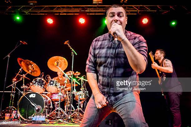 Dryden Mitchell of Alien Ant Farm performs onstage at University Of Northumbria on January 10 2016 in Newcastle upon Tyne England