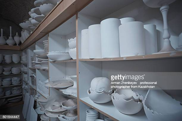 Drying clayware at pottery