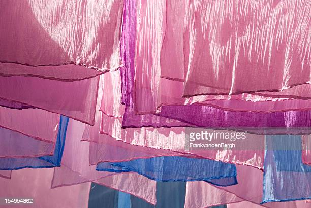 drying dyed fabrics - dye stock pictures, royalty-free photos & images