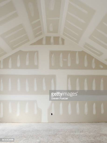 drywalled room in home - incomplete stock pictures, royalty-free photos & images