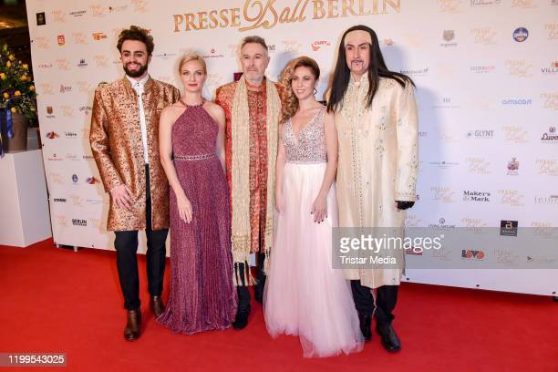 Dschinghis Khan and Wolfgang Heichel during the 120th Berlin Press Ball at Maritim Hotel on January 11 2020 in Berlin Germany