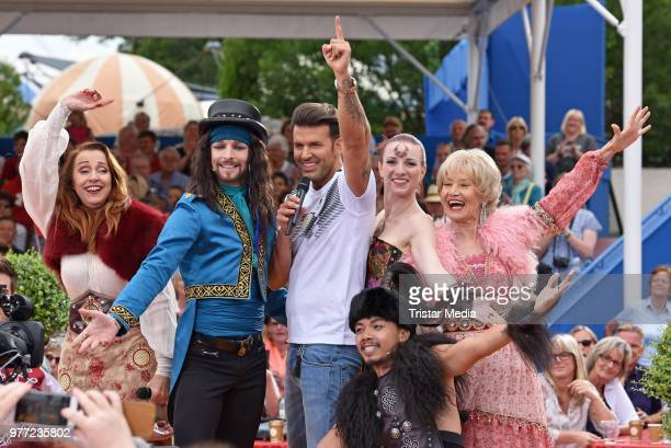 Dschinghis Khan with Jay Khan during the ARD live tv show 'Immer wieder sonntags' at EuropaPark on June 17 2018 in Rust Germany
