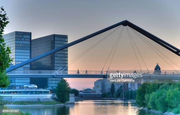 Düsseldorf Harbor Bridge, Germany