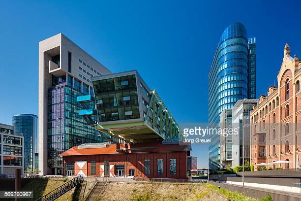 düsseldorf medienhafen - düsseldorf stock pictures, royalty-free photos & images