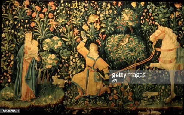 Détail de la tapisserie de la légende de Saint Eloi aux Hospices de Beaune en Côted'OrFrance