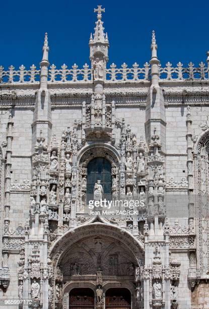 Détail de l'architecture du Monastère des Hiéronymites de l'Ordre de SaintJérôme de style manuélin témoignage monumental de la richesse des...