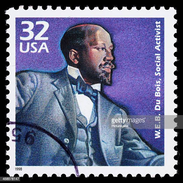 usa w.e.b. du bois postage stamp - black civil rights stock pictures, royalty-free photos & images