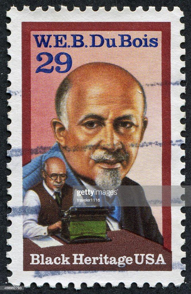 W.E.B. Du Bois Stamp : Stock Photo