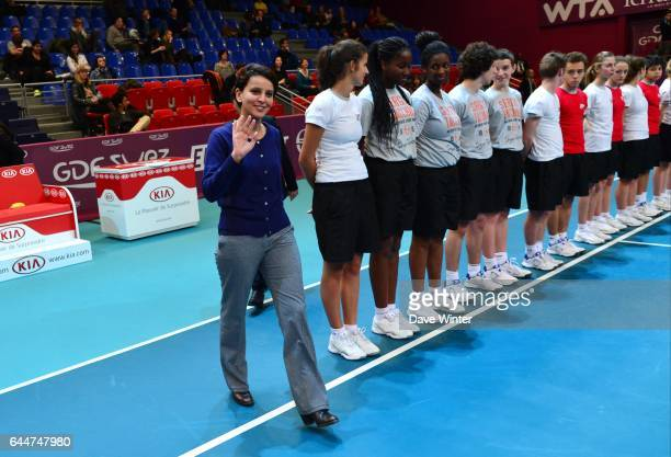 24H du sport feminin / Najat VALLAUD BELKACEM Open GDF Suez 2014 WTA Photo Dave Winter / Icon Sport