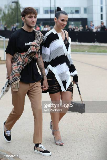 Dua Lipa and Anwar Hadid attends Burberry at Troubadour White City Theatre during LFW September 2019 on September 16 2019 in London England