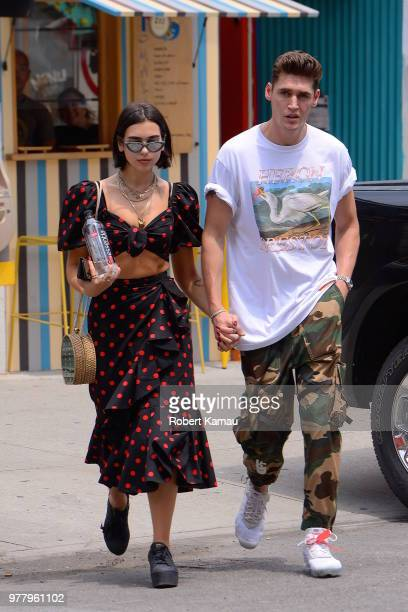 Dua Lipa and Isaac Carew seen out and about in Manhattan on June 18 2018 in New York City