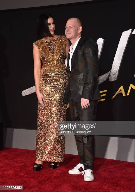 Dua Lipa and Junkie XL attend the premiere of 20th Century Fox's Alita Battle Angel at Westwood Regency Theater on February 05 2019 in Los Angeles...
