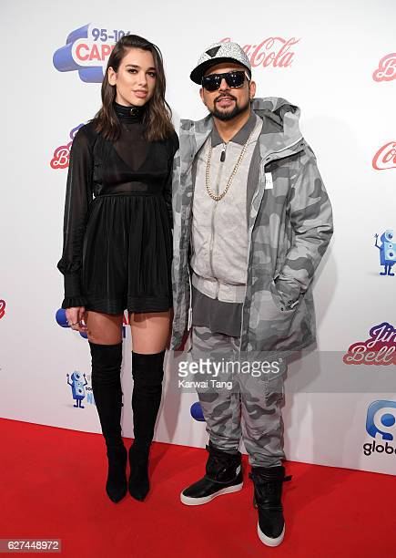 Dua Lipa and Sean Paul attend Capital's Jingle Bell Ball with CocaCola at the 02 Arena on December 3 2016 in London United Kingdom