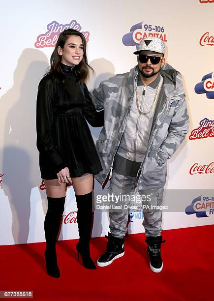 Dua Lipa and Sean Paul during Capital's Jingle Bell Ball with CocaCola at London's O2 arena PRESS ASSOCIATION Photo Picture date Saturday 3rd...