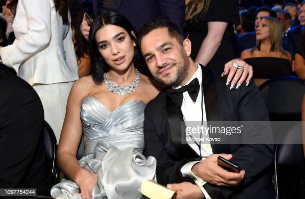 Dua Lipa and talent manager Ben Mawson during the 61st Annual GRAMMY Awards at Staples Center on February 10 2019 in Los Angeles California
