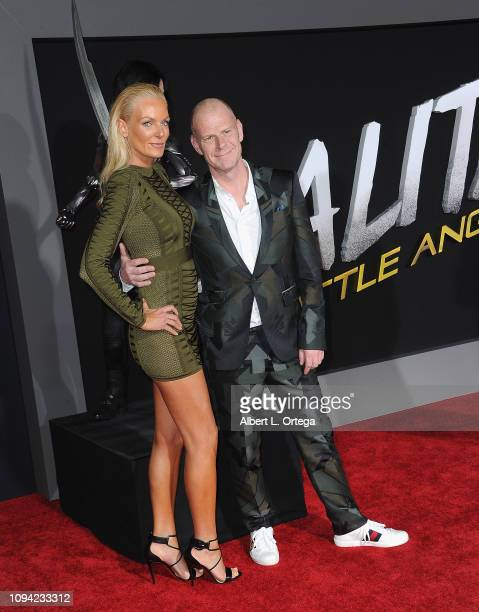 Dua Lipa and Tom Holkenborg aka Junkie XL and guest arrive for the premiere of 20th Century Fox's Alita Battle Angel held at Westwood Regency Theater...