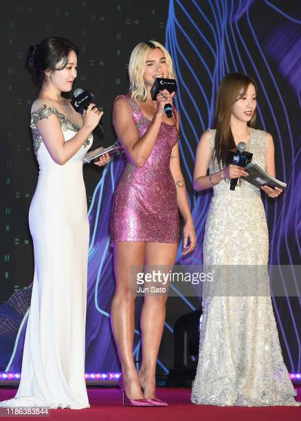 Dua Lipa arrives at the 2019 Mnet Asian Music Awards Red Carpet at Nagoya Dome on December 4, 2019 in Nagoya, Japan.